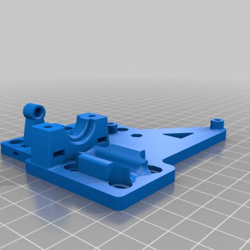 Download free 3D printer model ANET A8 Hot End E3D v6 mount plate, laurentcluzel