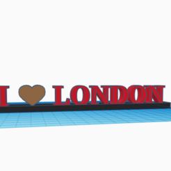 "Download 3D printing designs ""I Love London"" Novelty item, McBerdy"
