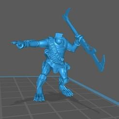kroot front.jpg Download free STL file cannibal chicken warrior • 3D printing design, thurgeis
