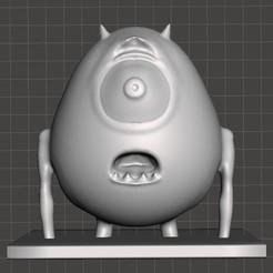 mike.jpg Download free 3MF file Mike Wazowski bust • 3D printable model, juanocataldo