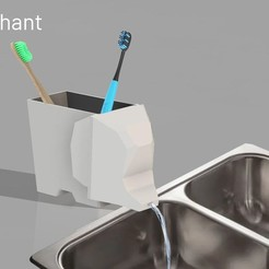 1.jpg Download STL file 3dPhant - Toothbrush / sponge holder • Template to 3D print, juanocataldo