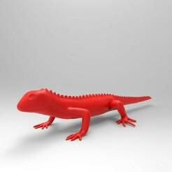 Portada_large.jpg Download STL file lizard • 3D printer design, HenryCGI