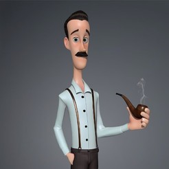 Download 3D printing models Grandfather Cartoon, HenryCGI