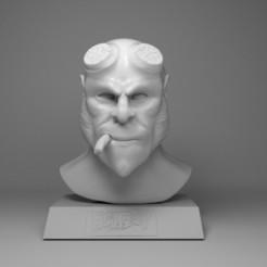 Imprimir en 3D Print Hellboy Fan Art, HenryCGI