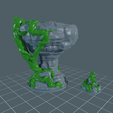 Rock_Set1.png Download free STL file Rock Formation - With and Without Vines • 3D printer template, BellForged