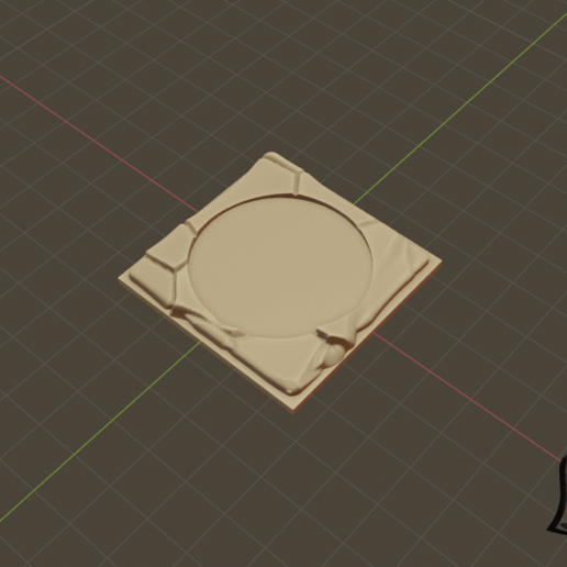 2x2_M_Cut_1.png Download free STL file Desert Terrain Tile Set • Template to 3D print, BellForged