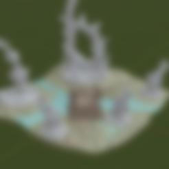Small_Swamp_Terrain_Insert.stl Download free STL file Swamp Terrain with Bridge • Template to 3D print, BellForged