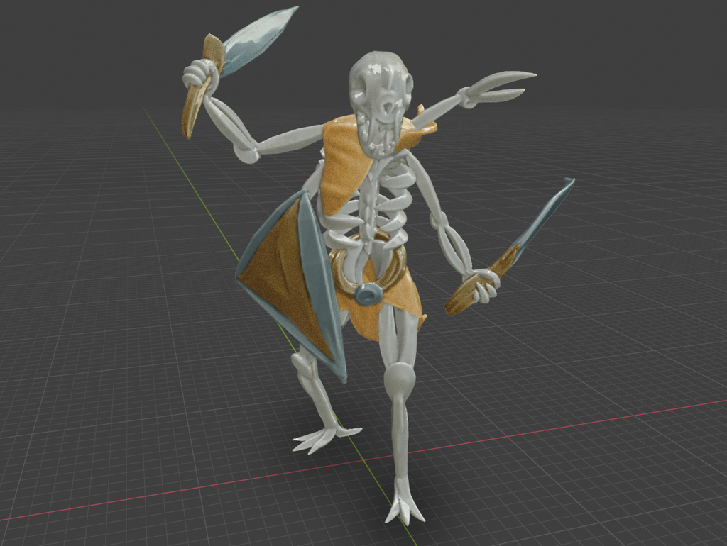 Immortal_warrior3.png Download free STL file Immortal Warrior • 3D printer template, BellForged