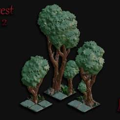 Forest_Set_2.jpg Download free STL file OpenFoliage Forest Set 2 • 3D print template, BellForged
