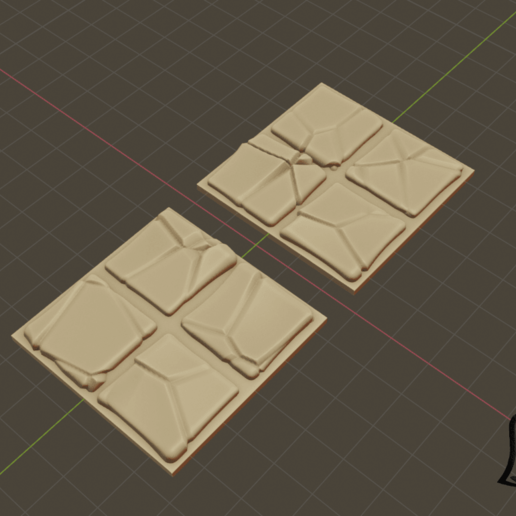 2x2_1.png Download free STL file Desert Terrain Tile Set • Template to 3D print, BellForged