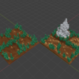 Basic_Grass3.png Download free STL file OpenFoliage 2x2 Grass Tile • 3D printable model, BellForged