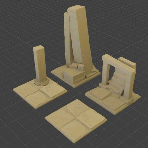 Sand_Ruins_A_Textured.jpg Download free STL file OpenFoliage Sand Ruins • 3D print model, BellForged