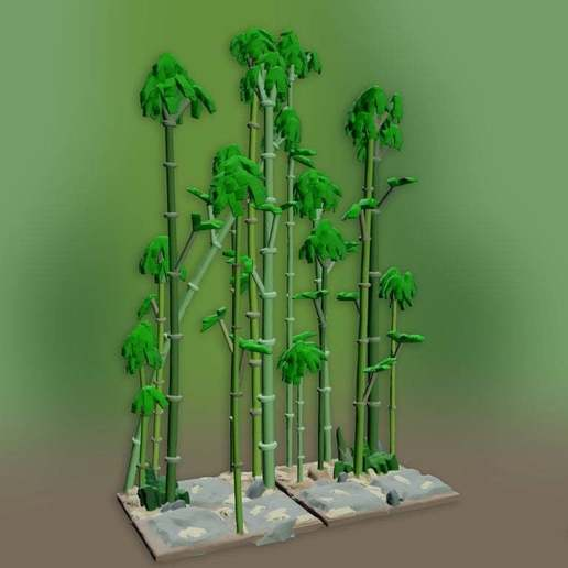 Download free STL file Openfoliage Bamboo Forest Sample Inserts • 3D print template, BellForged