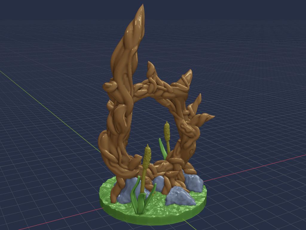 Portal_Tree_2.png Download free STL file Magic Portal Tree - Support Free • 3D printable model, BellForged