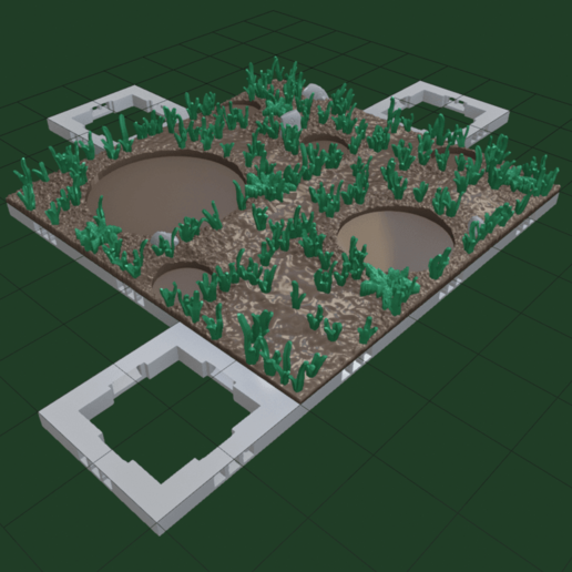 Forset_Path_Open_Forge1.png Download free STL file OpenFoliage 2x2 Grass Tile • 3D printable model, BellForged