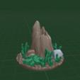 Stump1.png Download free STL file OpenFoliage Stump - 40 mm base • 3D printable design, BellForged
