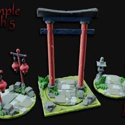 Temple_Path_5.jpg Download free STL file OpenFoliage Temple Stone Path Set 5 • 3D printable model, BellForged