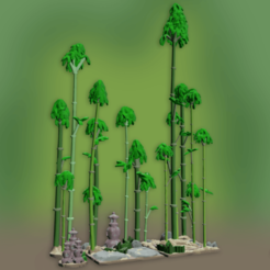 Download STL file OPENFOLIAGE BAMBOO PATH SET 2 • 3D printer object, BellForged
