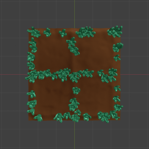 Basic_Grass1.png Download free STL file OpenFoliage 2x2 Grass Tile • 3D printable model, BellForged