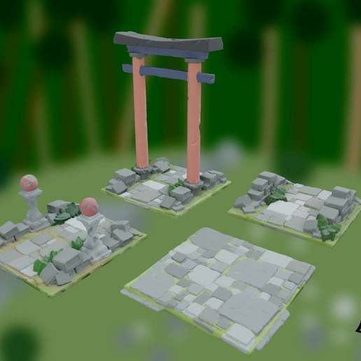 Download free STL file OpenFoliage Temple Stone Path 2 • 3D printable design, BellForged