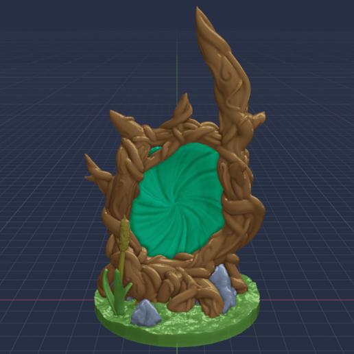 Portal_Tree_Portal_1.png Download free STL file Magic Portal Tree - Support Free • 3D printable model, BellForged