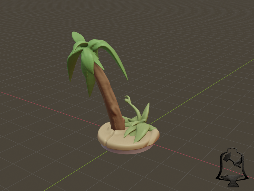 Palm_Tree_3.png Download free STL file Desert Terrain Tile Set • Template to 3D print, BellForged