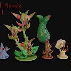 Evil_Plants_Set_1.jpg Télécharger fichier STL gratuit OpenFoliage Evil Plants - Un soutien total • Design imprimable en 3D, BellForged