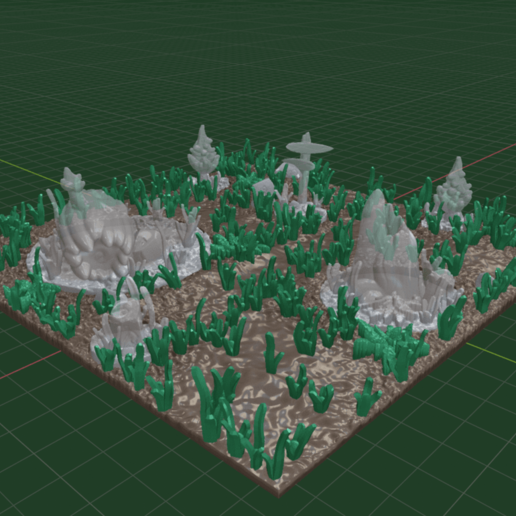 Forset_Path_set1.png Download free STL file OpenFoliage 2x2 Grass Tile • 3D printable model, BellForged