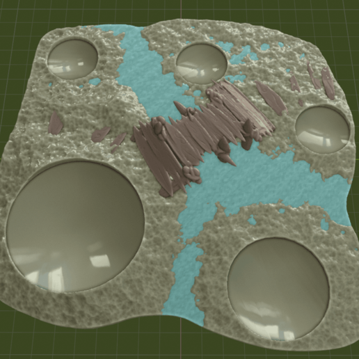 Swamp_Bridge2.png Download free STL file Swamp Terrain with Bridge • Template to 3D print, BellForged