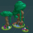 Forest_Fountain_Set.png Download free STL file OpenFoliage Forest Set - Complete Pack • 3D printing object, BellForged
