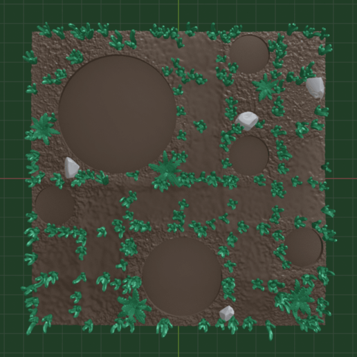 Terrain1.png Download free STL file OpenFoliage Stump - 40 mm base • 3D printable design, BellForged