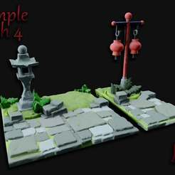 Temple_Path_4.jpg Download free STL file OpenFoliage Temple Stone Path Set 4 • 3D printing model, BellForged