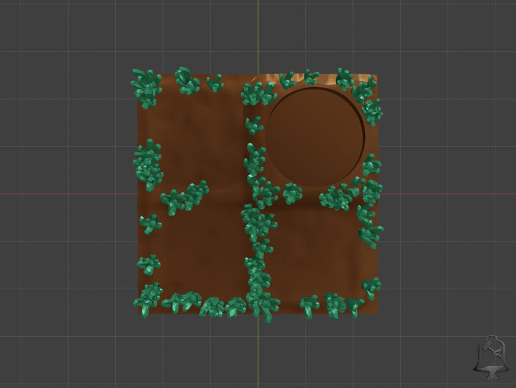 Basic_Grass_cutout1.png Download free STL file OpenFoliage 2x2 Grass Tile • 3D printable model, BellForged