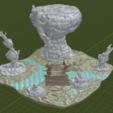 Swamp_Bridge4.png Download free STL file Swamp Terrain with Bridge • Template to 3D print, BellForged