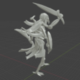 Immortal_warrior2.png Download free STL file Immortal Warrior • 3D printer template, BellForged