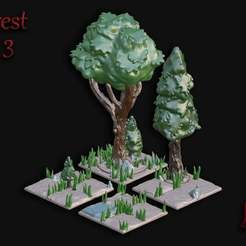 Forest_Set_3.jpg Download free STL file OpenFoliage Forest Set 3 • 3D printer template, BellForged