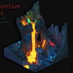 Cave_Example.jpg Download free STL file Openfoliage Cave Set 1 • 3D printing object, BellForged