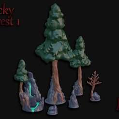 Rocky_Forest_1.jpg Télécharger fichier STL gratuit Inserts sur la forêt rocheuse à feuillage ouvert • Plan à imprimer en 3D, BellForged