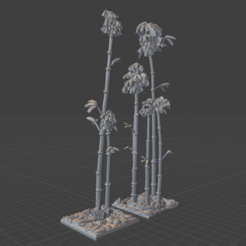 Bamboo Path Render1.png Download STL file OpenFoliage Bamboo Path Set • 3D printing model, BellForged