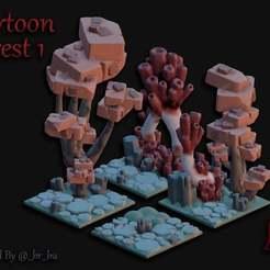 Alien_Forest_1.jpg Télécharger fichier STL gratuit Forêt d'Alien (Cartoon Forest) • Design imprimable en 3D, BellForged
