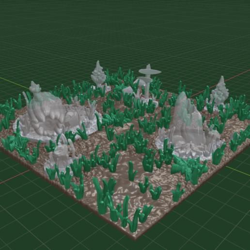 Forset_Path_set1.png Download free STL file OpenFoliage Stump - 40 mm base • 3D printable design, BellForged