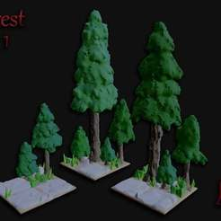 Forest_Set_1.jpg Download free STL file OpenFoliage Forest Tiles - Set 1 • 3D printer template, BellForged
