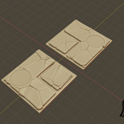 2x2_S_Cut_1.png Download free STL file Desert Terrain Tile Set • Template to 3D print, BellForged