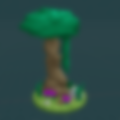 Medium_Tree_1_With_Leaves_1.1.1.stl Download free STL file Fey Tree - with and without canopy • 3D printable object, BellForged