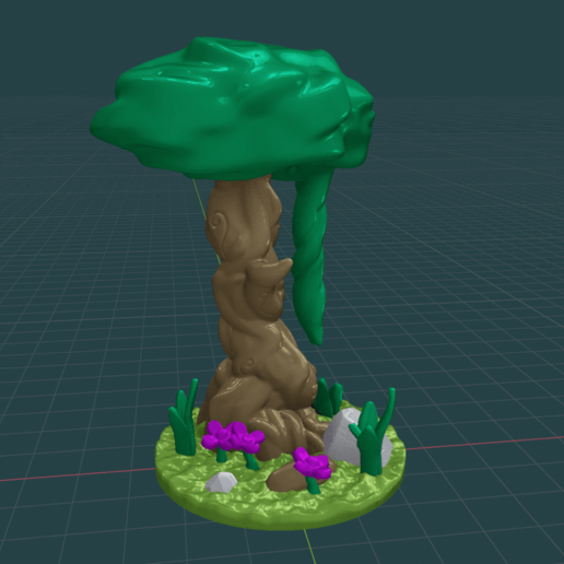 Forest_Tree_Medium1.png Download free STL file Fey Tree - with and without canopy • 3D printable object, BellForged