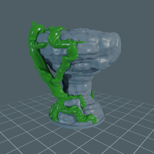 Rock_Vine_Large1.png Download free STL file Rock Formation - With and Without Vines • 3D printer template, BellForged