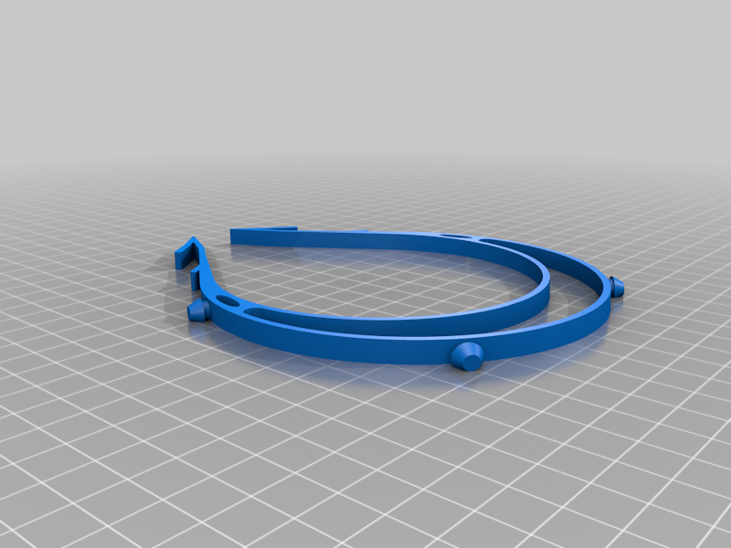 vis_4.png Download free STL file Ultra Fast Visor • 3D printable template, Gatober