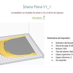 Descargar archivos 3D gratis Visera Plana V1_1, Gatober
