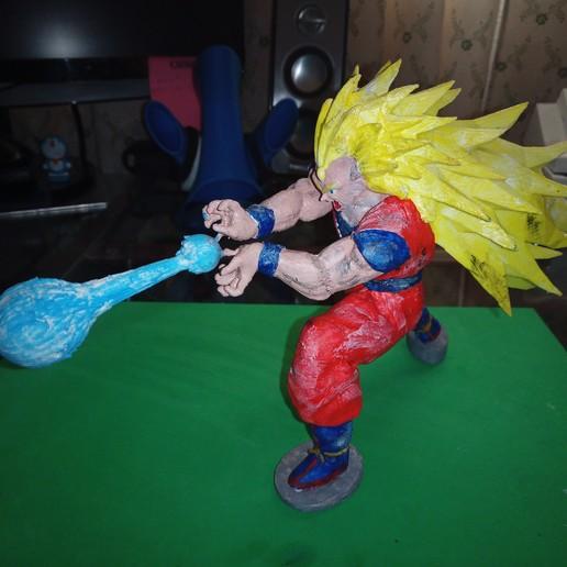 IMG_20200310_154418_5.jpg Télécharger fichier STL gratuit Goku Super Saiyan III Dragon Ball Z • Design pour imprimante 3D, Gatober