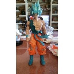 Download free 3D printing templates Blue Goku Dragon Ball Z, Gatober